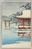 Unknown - Torii in Miyajima in a Snowy Day