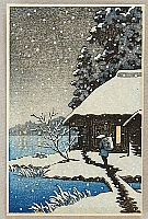 Unknown - Villager in a Snowy Evening