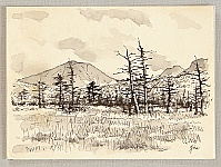 Nisaburo Ito 1910-1988 - Senjo-ga-hara - watercolor and pen on paper