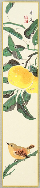 Suiko Fukuda 1895-1973 - Bird and Orange