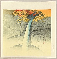 Hasui Kawase 1883-1957 - Twelve Famous Sceneries - Kegon Waterfalls