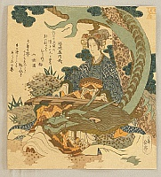 Gakutei Yashima 1786-1868 - Goddess and Dragon