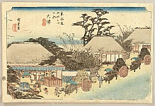 Hiroshige Ando 1797-1858 - 53 Stations of the Tokaido (Hoeido) - Otsu