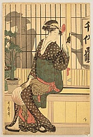 Utamaro Kitagawa 1750-1806 - Courtesan and Sake