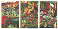 Chikanobu Toyohara 1838-1912 - Court Battle