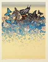 Chizuko Yoshida born 1924 - Butterflies on the Beach