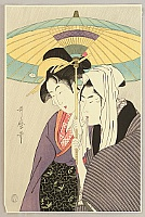 Utamaro Kitagawa 1750-1806 - Lovers under Umbrella