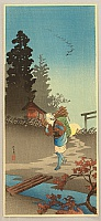 Hiroaki (Shotei) Takahashi 1871-1945 - Returning from Work - Dusk