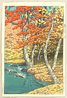Hasui Kawase 1883-1957 - A Collection of Scenic Views of Japan - Autumn in Oirase