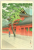 After Rain at Sanno Shrine - Kawase Hasui