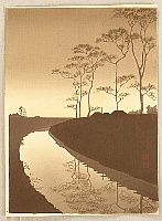 Koho Shoda 1871?-1946? - Canal by the  Moonlight