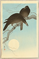Crows in Moonlight - Koson Ohara - 1877-1945