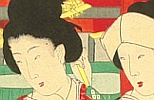 Chikanobu Toyohara 1838-1912 - Court Ladies in Tokugawa Era -  Going to Asakusa Temple