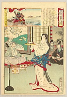Chikanobu Toyohara 1838-1912 - Azuma Nishiki Chuya Kurabe - Dancer.