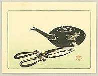 Zeshin Shibata 1807-1891 - Hana Kurabe - Scissor and a Tea Pot