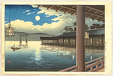 Koitsu Tsuchiya 1870-1949 - Summer Moon at Miyajima