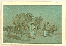 Hiroshi Yoshida 1876-1950 - Caravan from Afghanistan - Night