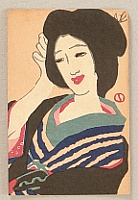 Yumeji Takehisa 1884-1934 - Smiling Beauty