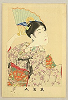 Chikanobu Toyohara 1838-1912 - True Beauties - Dancing with Fan