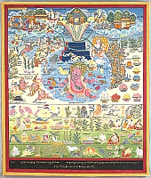 Tibetan Thangka - Medical Thangka?