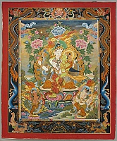Tibetan Thangka - White and Green Tara (?)
