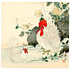 Chikuseki  active ca. 1900 - Rooster and Hen