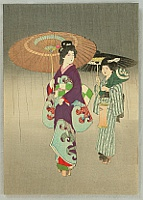 Kason Suzuki 1860-1919 - Beauty in the Rain