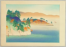 Eikyu Matsuoka 1881-1938 - Eight Scenic Views of Japan - Lake Towada