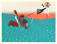 Hideo Takeda born 1948 - Battle of the Genji and the Heike - Mark of the Fan