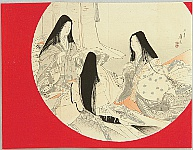 Eisen Tomioka 1864-1905 - Three Beauties