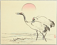 Seiho Takeuchi 1864-1942 - Cranes and the Rising Sun