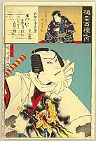 By Kunichika Toyohara 1835-1900 - Woodblock Print