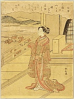 Harunobu Suzuki 1724-1770 - Thirty-six Immortal Poets - Lady Ise, the Broken Heart