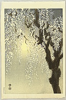 Eiichi Kotozuka 1906-1979 - Cherry Blossoms in Evening