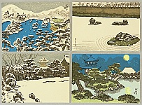 Nisaburo Ito 1910-1988 - Famous Temples in Kyoto
