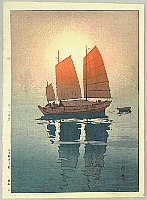 Sailing Boats in the Morning - Hiroshi Yoshida