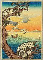 Hiroaki (Shotei) Takahashi 1871-1945 - Coming Ships
