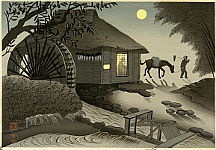 Bakufu Ono 1888-1976 - Watermill in Evening