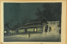 Eiichi Kotozuka 1906-1979 - Night Rain in Kyoto