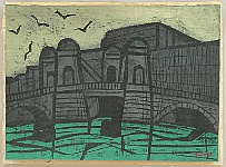 Tadashige Ono 1909-1990 - Old Bridge in Leningrad, Russia