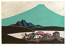 Yoshio Kanamori born 1922 - Mt. Fuji, Lake, Summer Flower