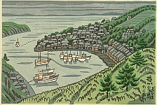 Takeji Asano 1900-1999 - Port of Ejima