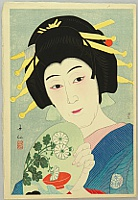 Shunsen Natori 1886-1960 - Collection of Shunsen Portraits - Beauty Okon