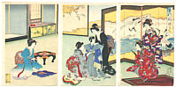 Chikanobu Toyohara 1838-1912 - Boy's Dream