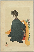 Eiho Hirezaki 1881-1968 - Step Mother Step Son -  Foot Warmer