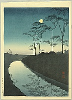 Canal under the  Moonlight
