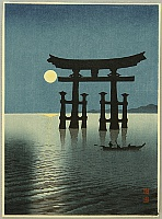 Koho Shoda 1871?-1946? - The Moon and Torii Gate