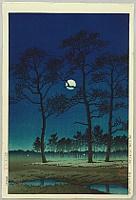 Winter Moon over Toyama Plain - Kawase Hasui