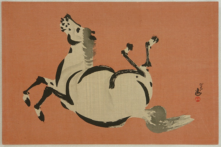 Seizan Aoyama active ca. 1920-30s - Seizan Zen Horse