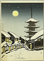 Nisaburo Ito 1910-1988 - The Moon at Yasaka